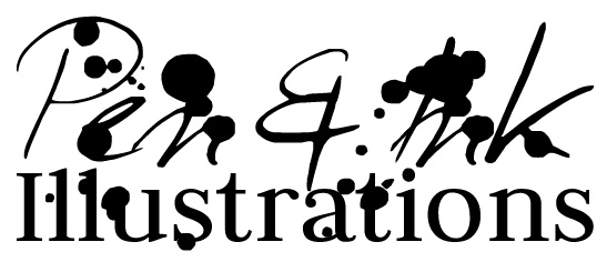 Pen & ink Illustrations Logo