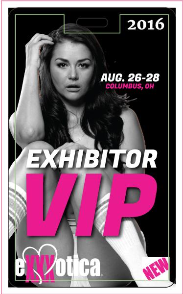 EXXXOTICA Columbus Exhibitor Badge